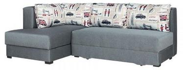Stūra dīvāns Bodzio Judyta Grey/London 1, kreisais, 225 x 155 x 77 cm