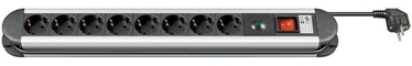 Goobay 93002 Power Strip 8 Sockets Black 1.4m