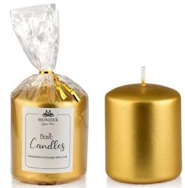 Свеча Mondex Classic Candle Metalic Gold 9cm