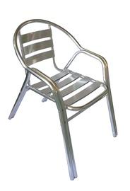 Садовый стул Domoletti, серебристый, 57 см x 54 см x 73 см