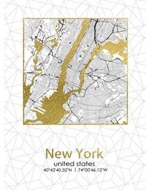 Fotoattēls Mondex Plan Of New York Painting 45x60x1.8cm