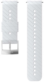 Suunto Athletic3 Silicone Strap White/Steel Medium