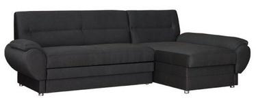 Stūra dīvāns Bodzio Livonia Fabric Dark Gray, labais, 248 x 155 x 89 cm
