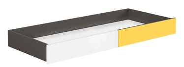 Black Red White Graphic Drawer For Bed White/Yellow