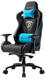 Spēļu krēsls Sharkoon Skiller SGS4, zila/melna
