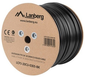 Lanberg Outdoor Cable Cat5E CU FTP Black 305m