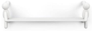 Sienas plaukts Umbra Buddy White, balta, 46x14x15 cm