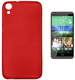 Forcell Jelly Brush Back Case For HTC Desire 820 Red