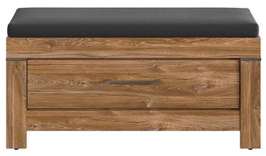 Apavu plaukts Black Red White Gent Stirling Oak, 1010x400x500 mm