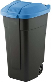 Curver Waste Bin 110L Black/Blue