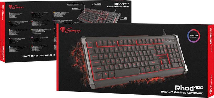 Natec Genesis RHOD 400 Gaming Keyboard RU Black