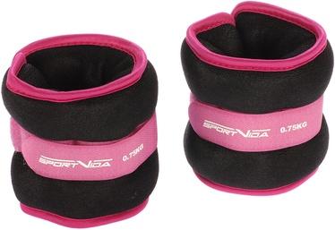 Universālie svari SportVida Ergo Fit Weight Set 0.75kg Dark Pink