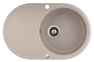 Izlietne Aquasanita Clarus SR 101-110AW, akmens masas, 780 mm x 500 mm x 195 mm