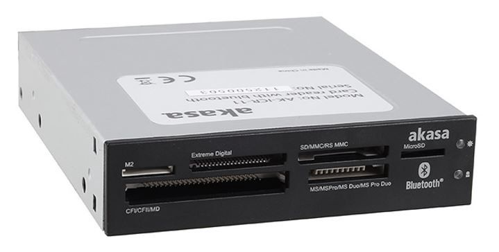 "Akasa Card Reader USB 2.0 3.5"" with Bluetooth"