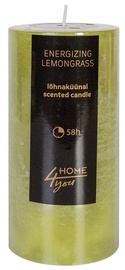 Home4you Candle Energizing Lemongrass D6.8xH14cm