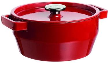 Pyrex SlowCook Round Cast Iron Casserole D28cm 6.3L Red
