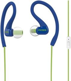 Наушники Koss FitClips KSC32i in-ear, синий/зеленый