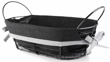 Mondex Will Bread Basket 25x15x8cm Metal Black