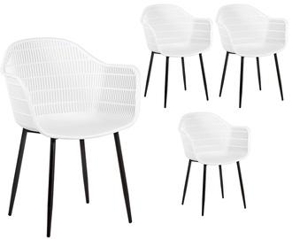 Ēdamistabas krēsls Home4you Flyn White, 4 gab.