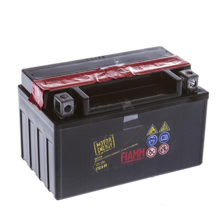 Akumulators Fiamm Moto FTX7A-BS, 6 Ah, 75 A, 12 V
