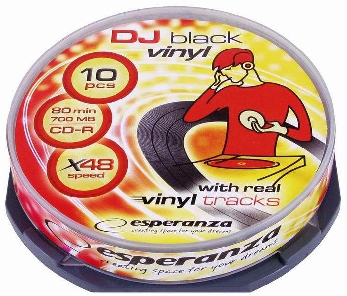 Esperanza Vinyl 2096 CD-R 52X 700MB 10 Pack Cake Box