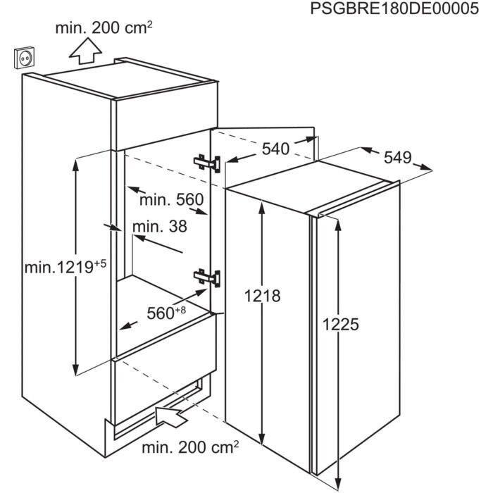 Iebūvējams ledusskapis Electrolux LFB3AF12S