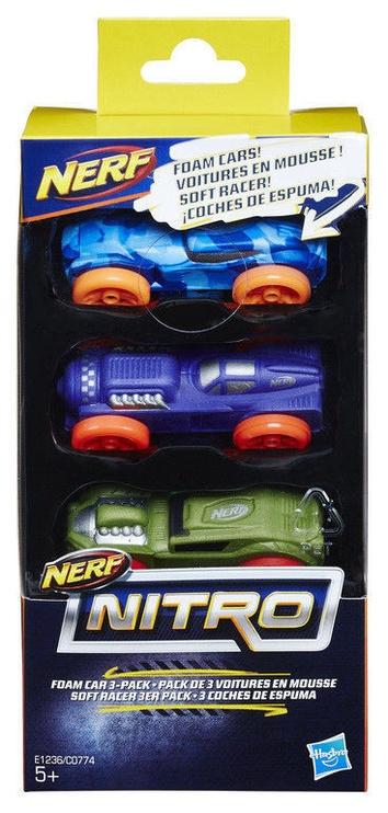 Hasbro Nerf Nitro Foam Car 3-Pack C0774
