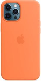 Чехол Apple iPhone 12 Pro Max Silicone Case with MagSafe Kumquat (поврежденная упаковка)