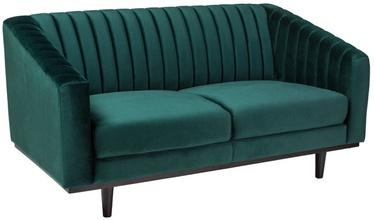 Диван Signal Meble Asprey 2 Velvet Green/Wenge, 150 x 60 x 78 см