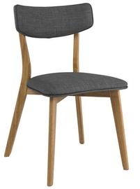 Ēdamistabas krēsls Signal Meble Karl, brūna/pelēka