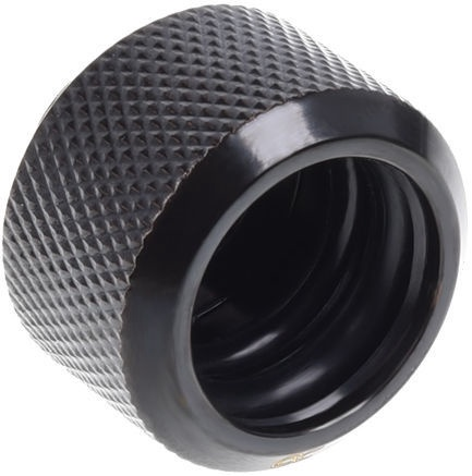 Alphacool Eiszapfen HardTube Compression Fitting 16mm To G1/4 Black