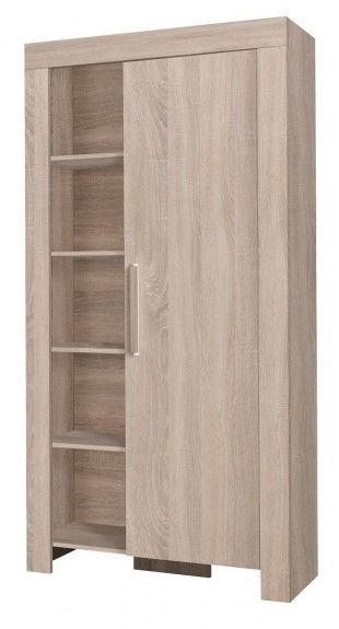 Skapis Jurek Meble Cezar Reg 4 Sonoma Oak, 100x42x201 cm