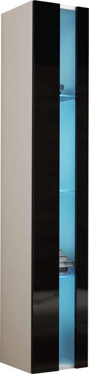 Cama Meble Vigo New Shelf Unit White/Black Gloss