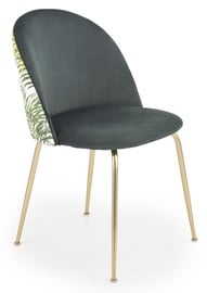 Halmar Chair K 372 Dark Gren/Gold