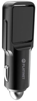 Platinet Rotation Dual USB Car Charger Black