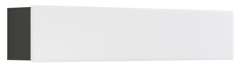 Black Red White Possi Light Cupboard 200x32x40cm Grey/White Gloss