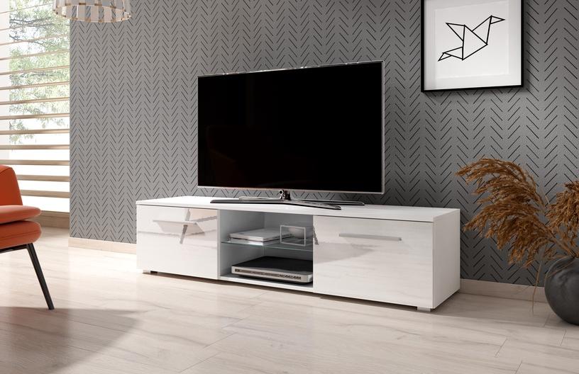 ТВ стол Vivaldi Meble Moon, белый, 1400x400x360 мм