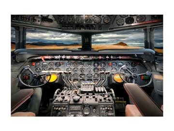 Signal Meble Airplane Cockpit Glass Painting 120x80cm