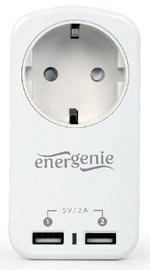 Lādētājs EnerGenie EG-ACU2-01-W, AC / 2 x USB