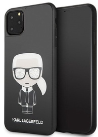 Karl Lagerfeld Iconic Karl Glitter Back Case For Apple iPhone 11 Pro Max Black