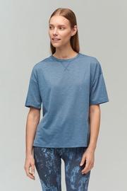 Audimas Light Dri Release T-Shirt Blue Mirage M