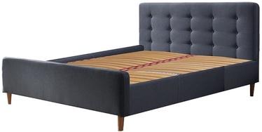 Кровать Signal Meble Pinko 160SZ Grey, 219x174 см, с решеткой