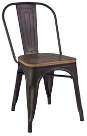 Ēdamistabas krēsls Signal Meble Loft 4 Walnut/Graphite, 4 gab.