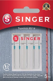Singer Topstitch Needle 90/14 Metalic Thread 5pcs