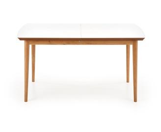 Pusdienu galds Halmar Barret Barret, balta/ozola, 900 - 1900 mm x 800 mm x 750 mm
