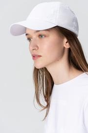 Audimas Cotton Poplin Peaked Cap White
