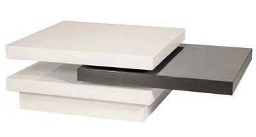 Kafijas galdiņš Signal Meble Trista White/Gray, 800x800x420 mm