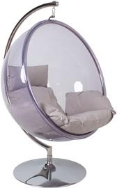 Садовый стул Home4you, прозрачный/серый