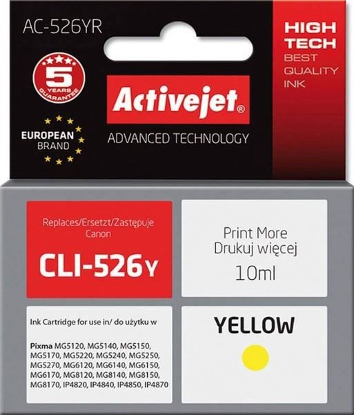 ActiveJet Cartridge AC-526YR For Canon 10ml Yellow