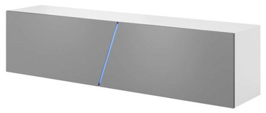 TV galds Vivaldi Meble Slant 160 White/Grey Gloss, 1600x400x340 mm